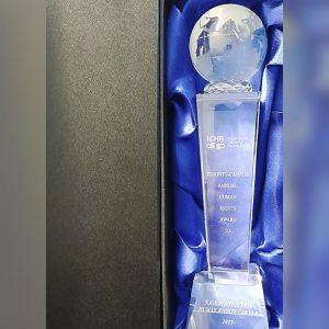 ICHR 2019 Annual Prestigious Human Rights Award Winner